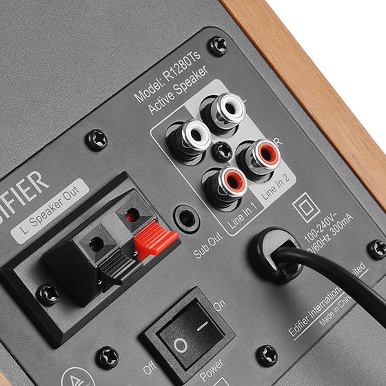 Edifier R1280T - Conectividad