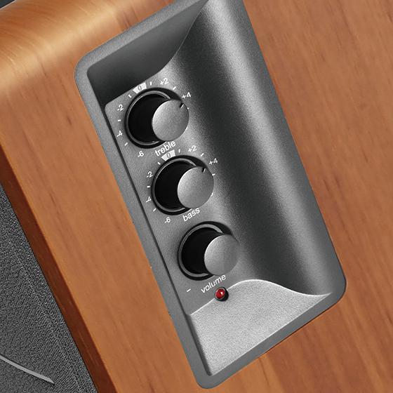 Edifier R1280TS - Control de bajos y agudos