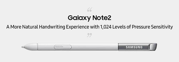 Galaxy Note 2 y S Pen rediseñado