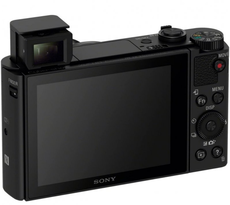 Sony HX80 - Diseño posterior