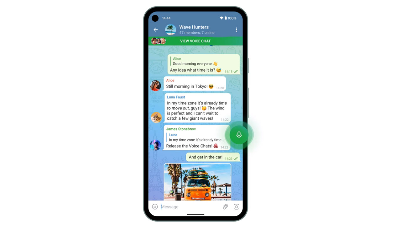 Telegram añade chats de voz grupales en su última actualización del año