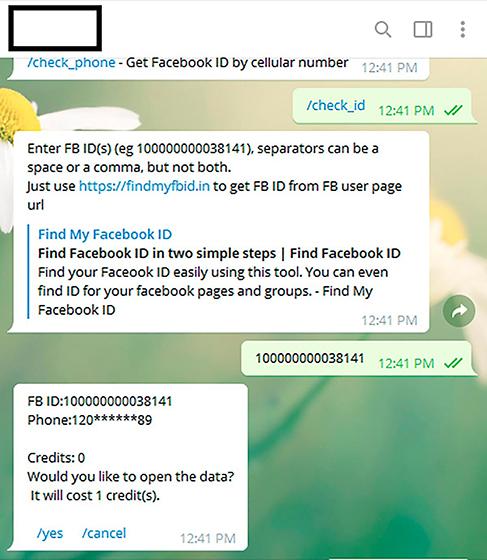 Un bot de Telegram filtra los números telefónicos de millones de usuarios de Facebook