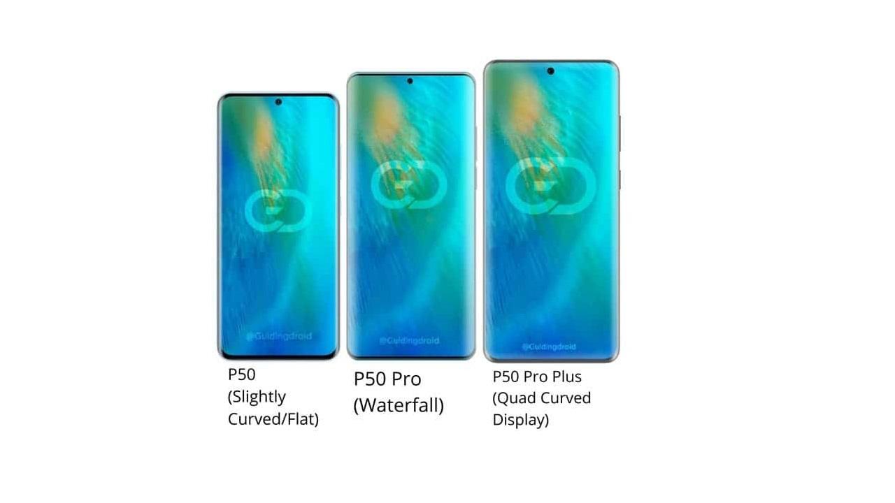 pantallas de los Huawei P50