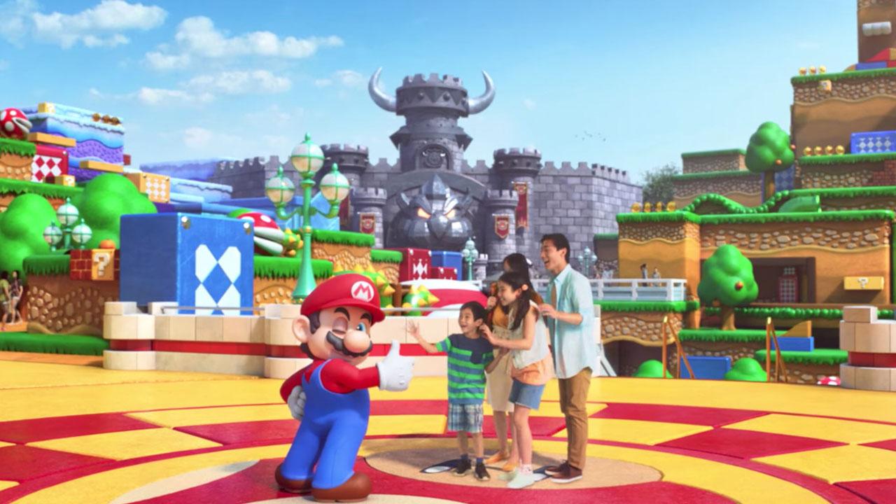 El parque temático Super Nintendo World se muestra al público por primera vez