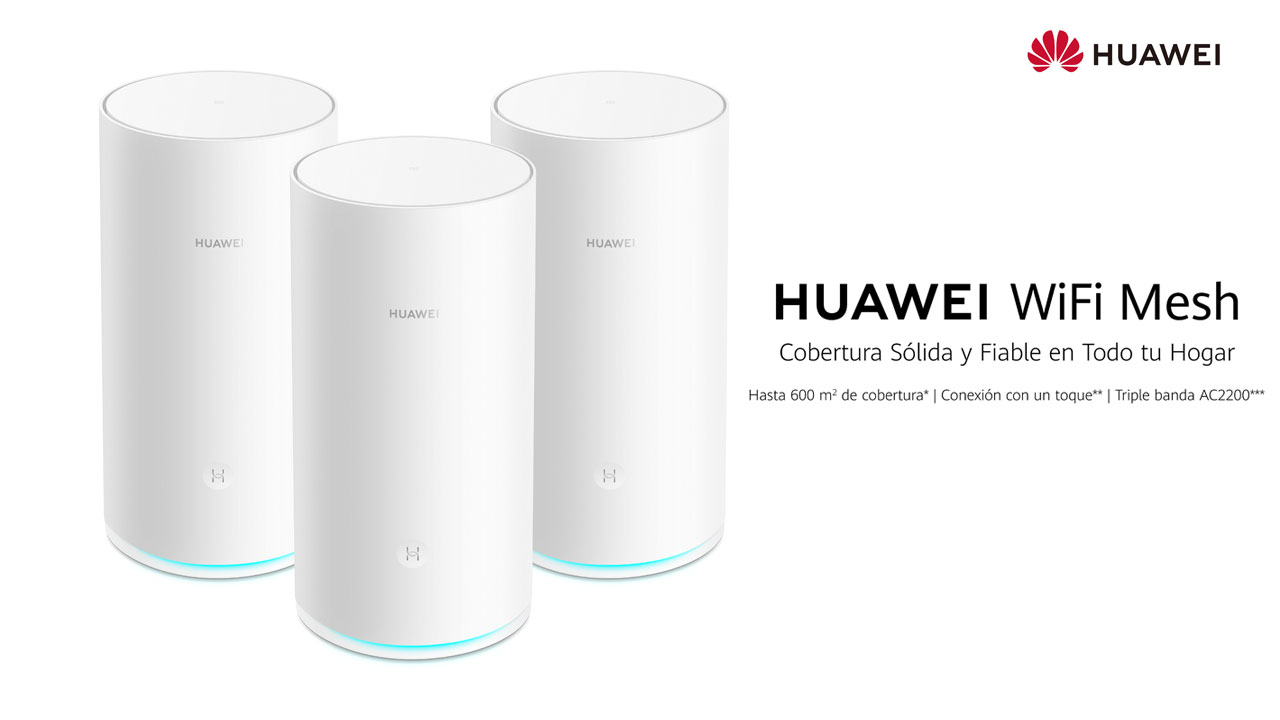 Huawei WiFi Mesh, así es el nuevo router de malla de Huawei
