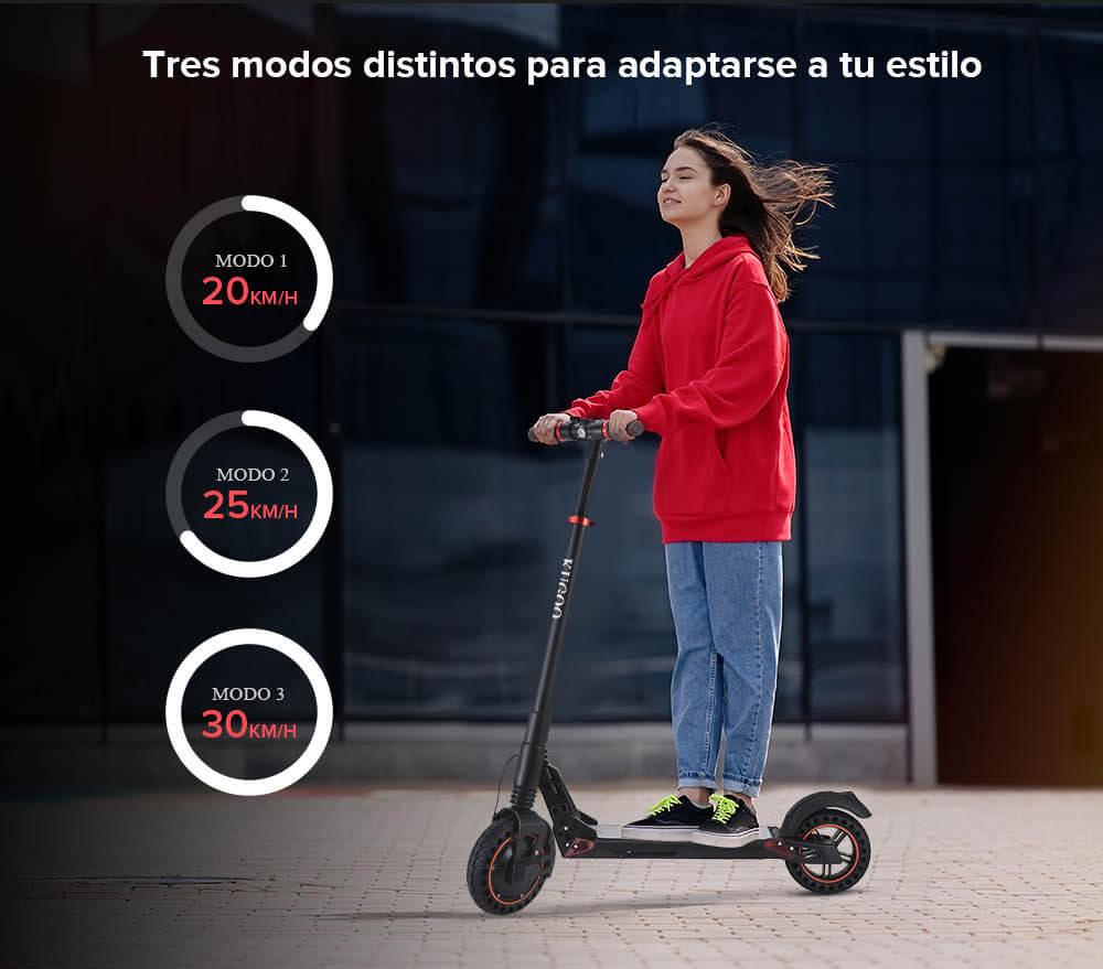 Kugoo S1 Plus - Modos de velocidad