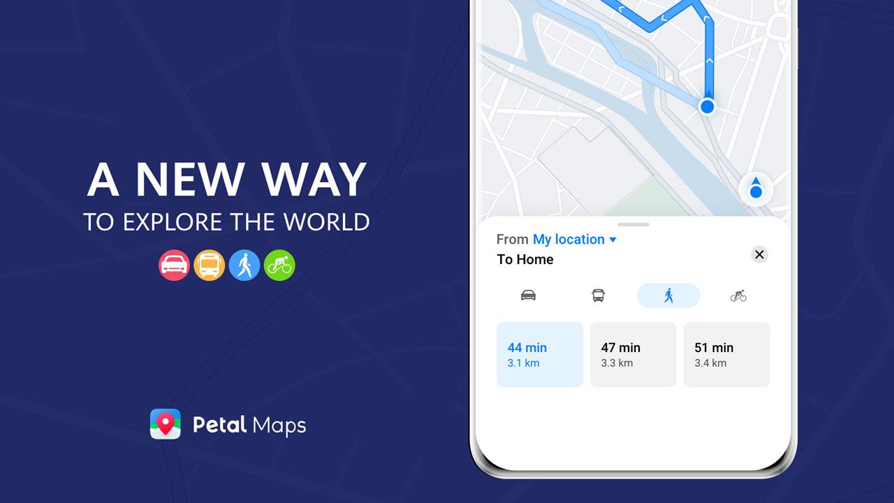 Petal Maps, Huawei añade planificación de rutas a su app GPS