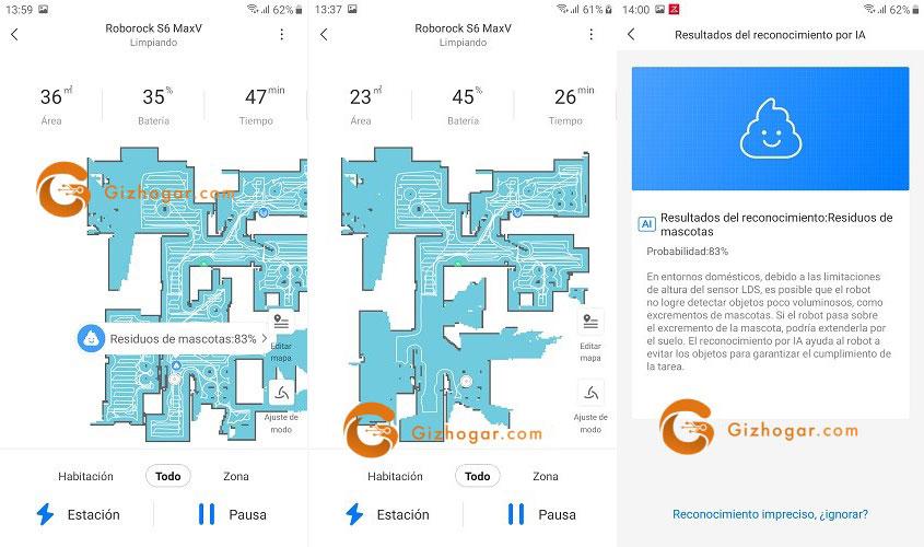 Roborock S6 MaxV - App
