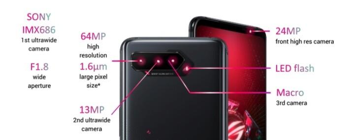 Asus Rog Phone 5 - Cámaras
