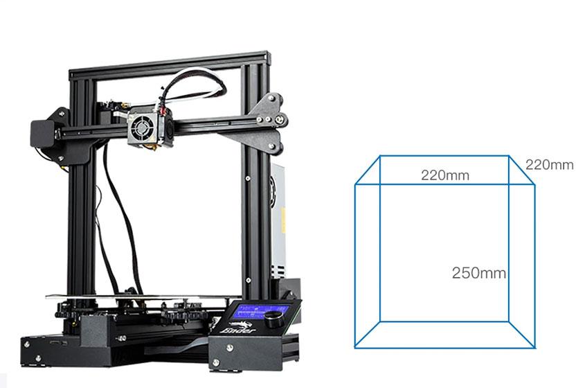 Creality Ender 3 Pro S - Área de impresión