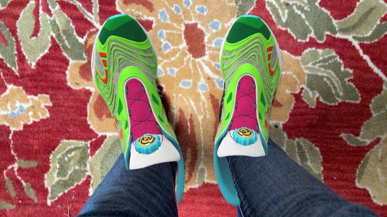 GUCCI lanza su Sneakers virtuales al estilo de los Tokens NFT