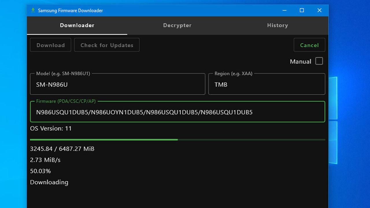 Samsung Firmware Downloader, actualiza el Firmware de tu Samsung con facilidad