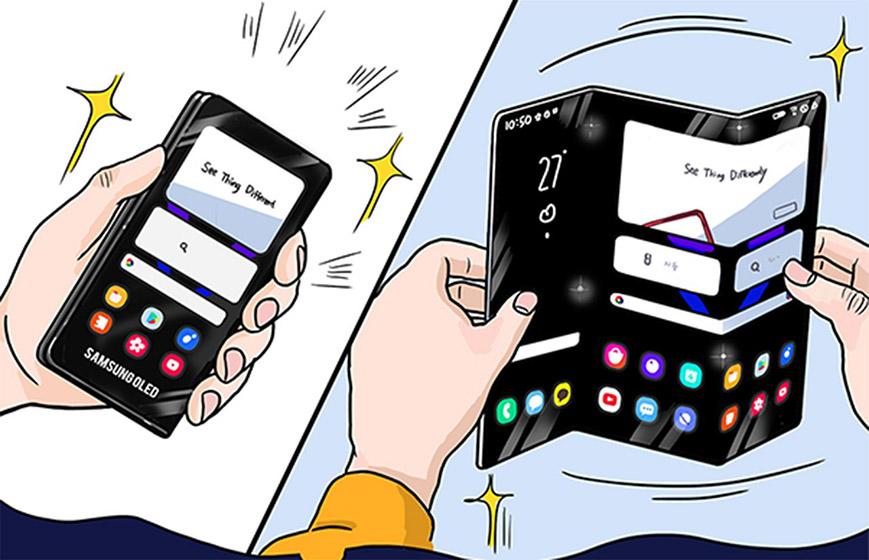 Samsung coquetea con la idea del doble plegado