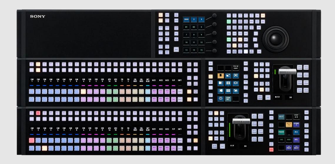 Sony XVS-G1 - Panel de control