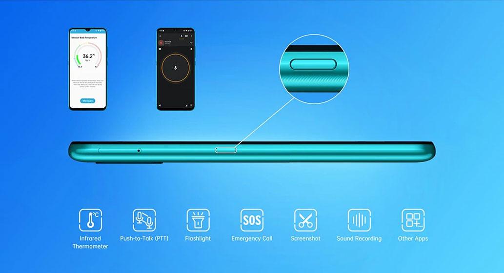 UMIDIGI A7S - Botón configurable