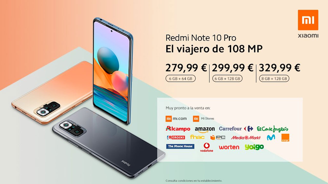 Xiaomi Redmi Note 10 y Note 10 Pro, ya están disponibles en España