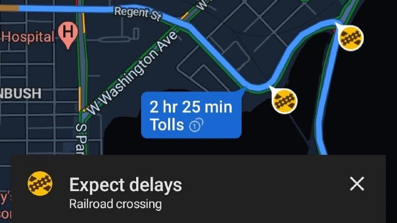pasos a nivel en google maps