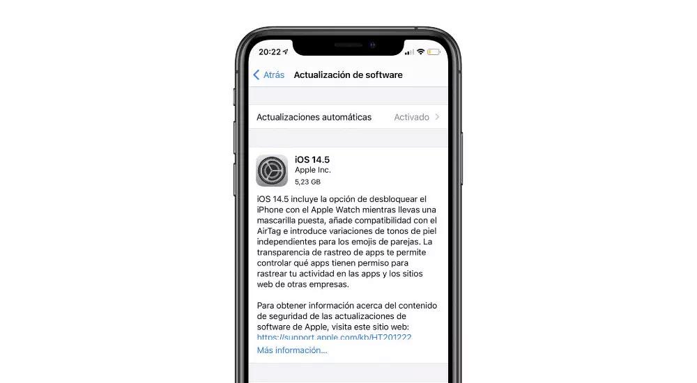 Release Candidate de iOS 14.5 - Qué hay de nuevo