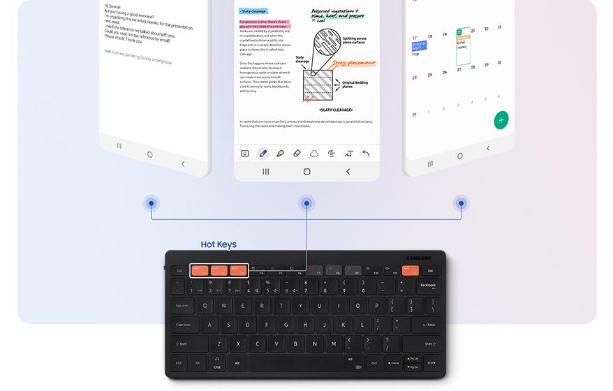 Samsung Smart Keyboard Trio 500 - Hotkeys