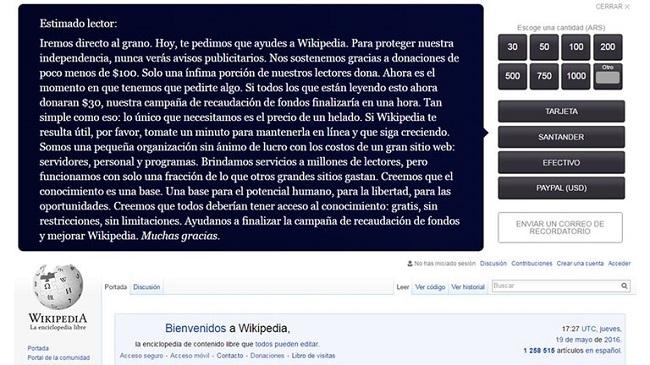 Wikipedia Donaciones