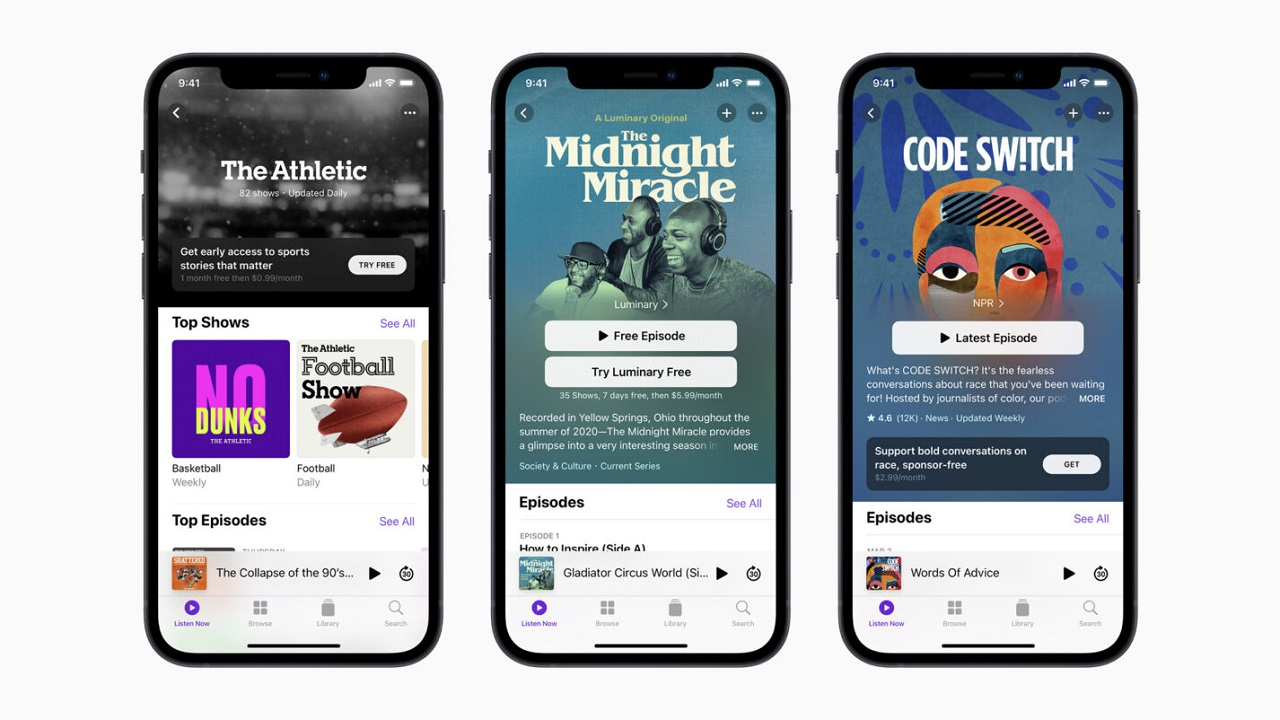 apple podcasts subscription