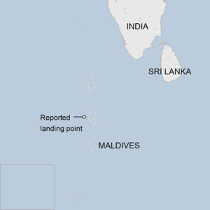 El Cohete Long March 5B se estrelló en las Maldivas