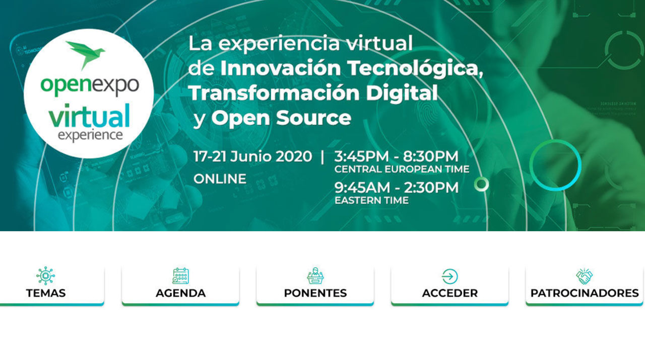 La OpenExpo Virtual Experience 2021 ya tiene fecha para junio