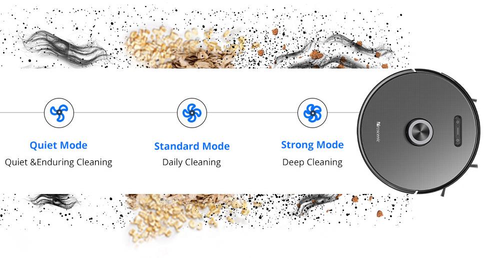 Proscenic M8 Pro - Modos de limpieza