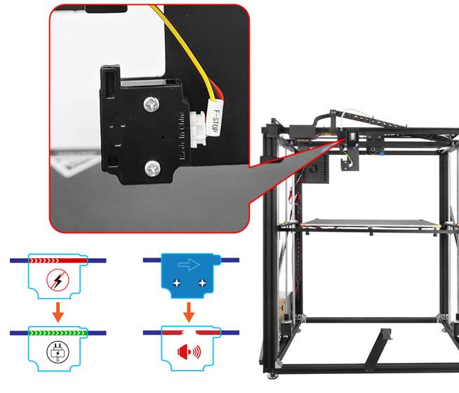 Tronxy X5SA-500 Pro - Detección de filamento