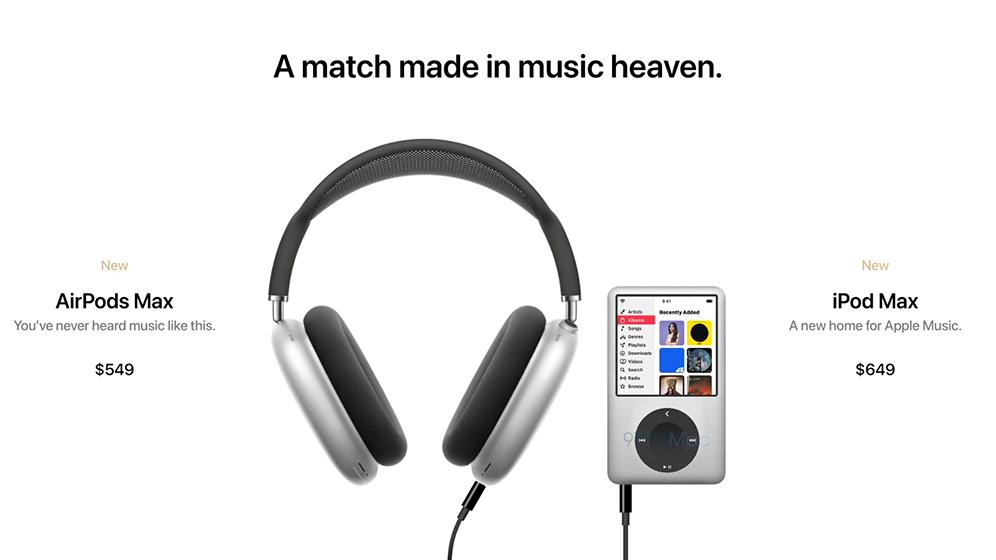 iPod Max con AirPods Max