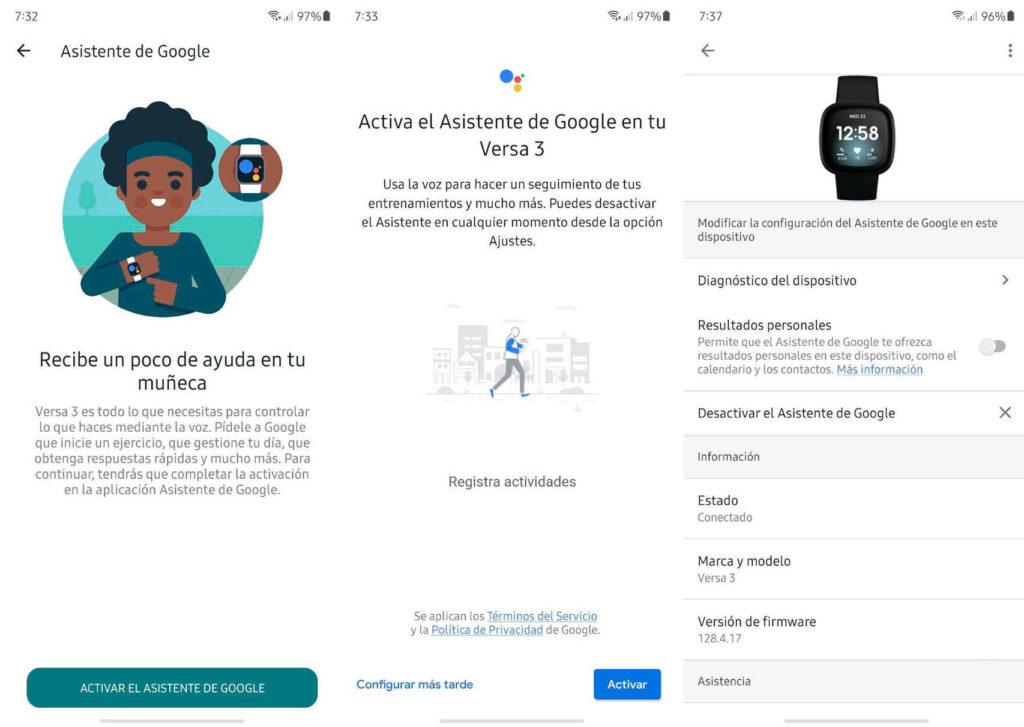 Fitbit Versa 3 y Sense son los primeros en recibir al Asistente de Google