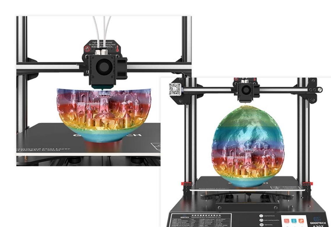 Geeetech A30T - Resumen de impresión