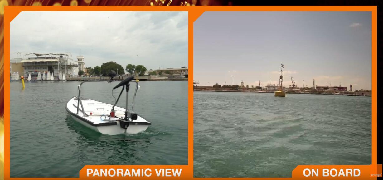 La red 5G de Orange permite controlar un barco en Valencia estando en Barcelona