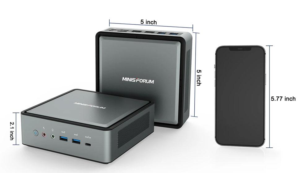 Minisforum HM50 - Diseño