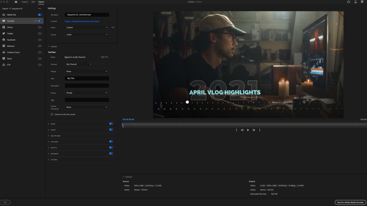 Premiere Pro se actualiza con optimizaciones a los flujos de importación y exportación