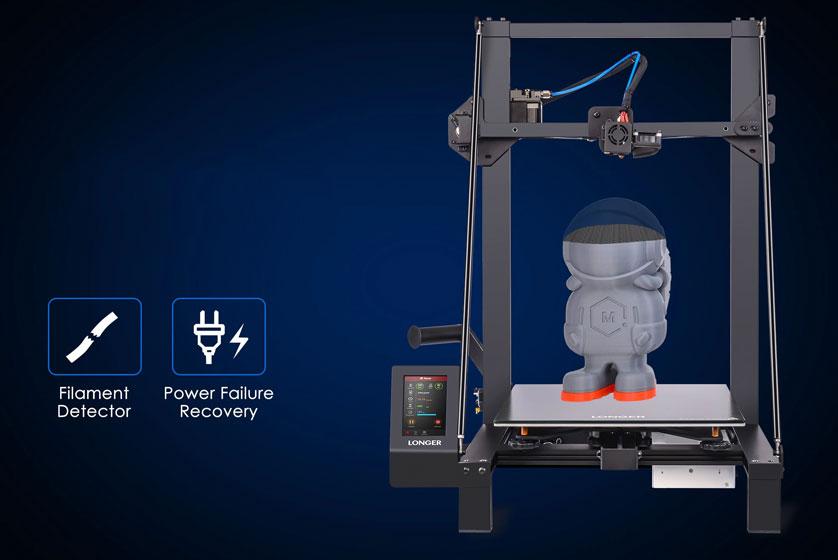 Reanudación de impresión y detección de filamento