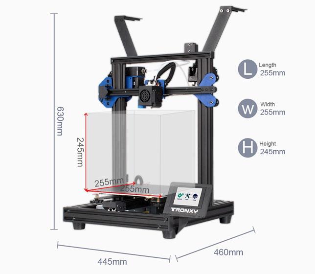 Tronxy XY-2 PRO-2E - Volumen de impresión