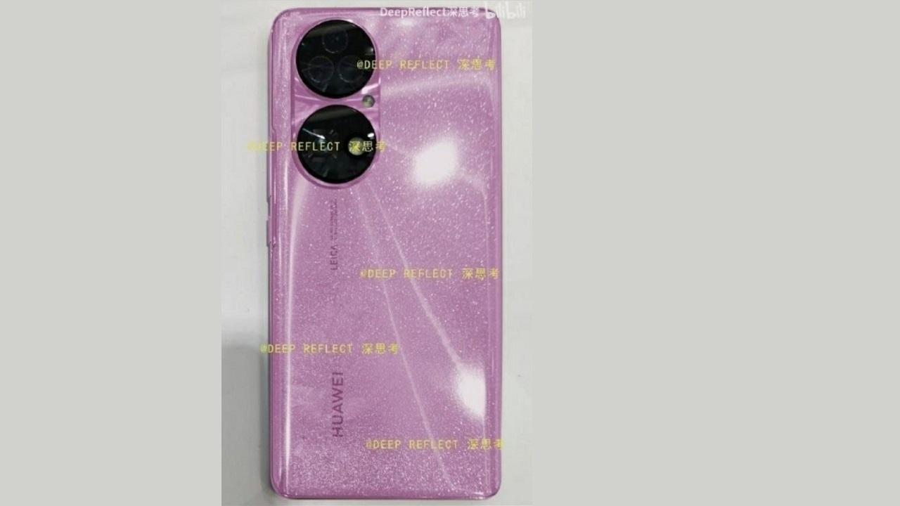 huawei p50 rosa con brillo