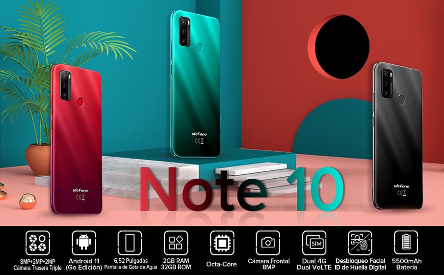 Características del Ulefone Note 10