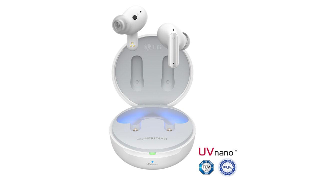 LG TONE Free FP9, FP8 y FP5, auriculares TWS con ANC y estuche de autolimpieza
