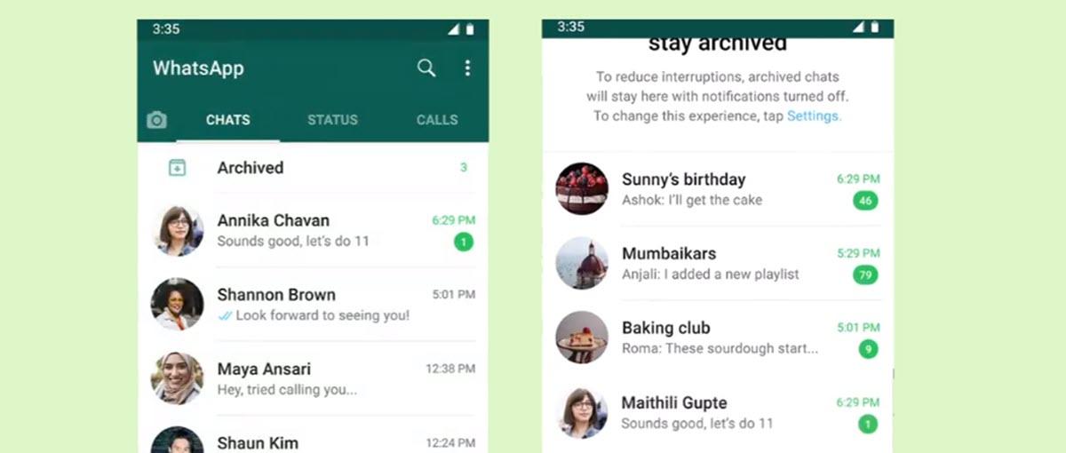 Archivar chats en WhatsApp es un proceso sencillo