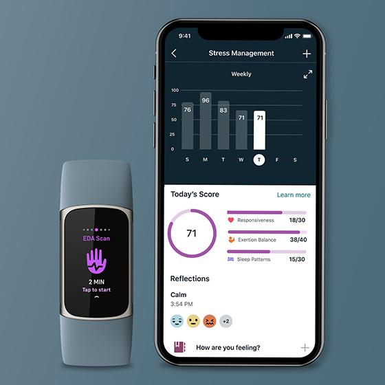 Fitbit Charge 5 - Seguimiento de estrés