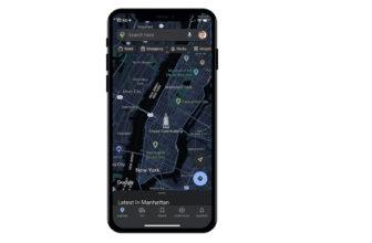 modo oscuro en google maps en ios