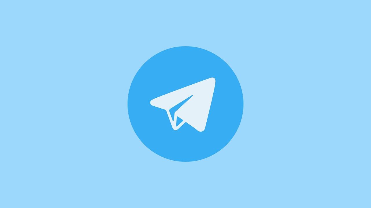telegram logo azul