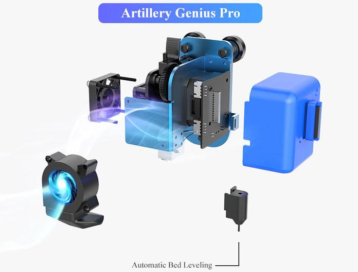 Artillery Genius Pro - Nivelación automática
