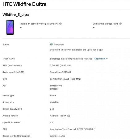 HTC Wildfire E Ultra