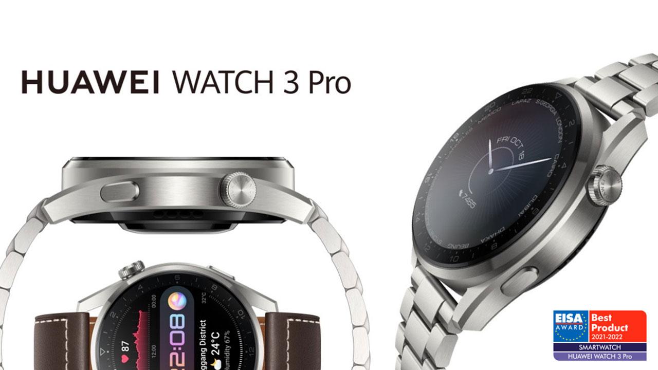 Huawei Watch 3 Pro recibe el premio al Mejor Smartwatch de EISA
