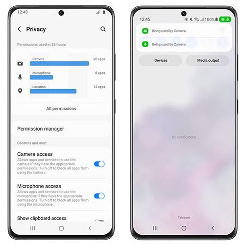 One UI 4.0 - Privacidad