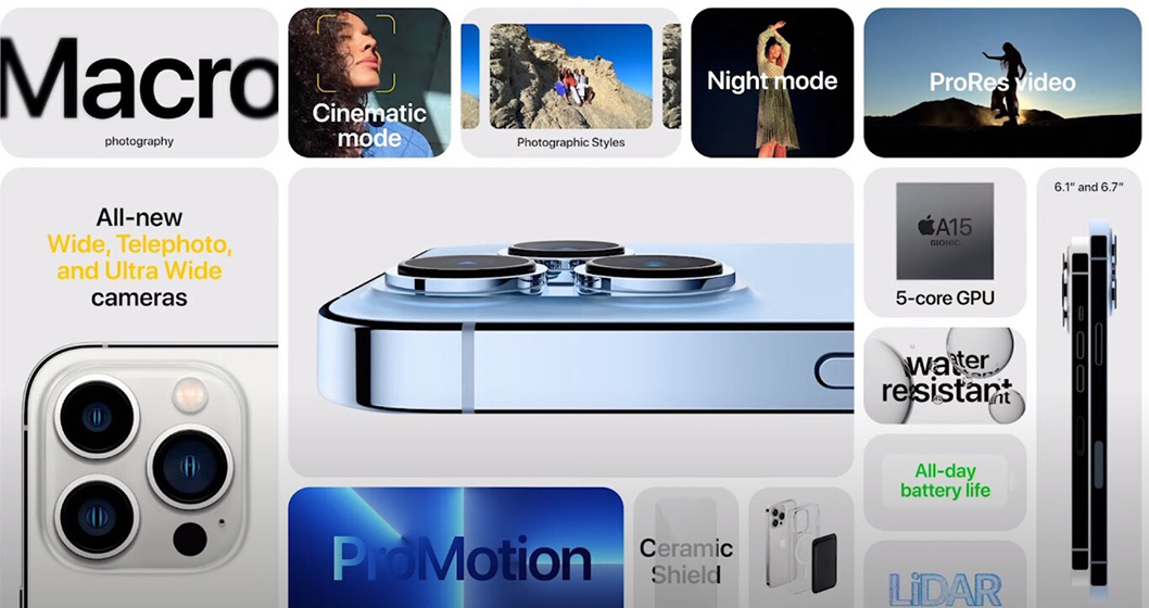 iPhone 13 Pro y iPhone 13 Pro Max - Características