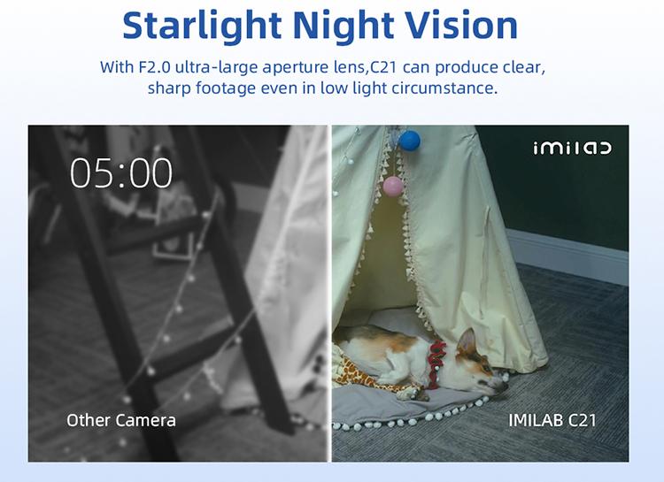 IMILAB C21 Home Security Camera - Visión Nocturna